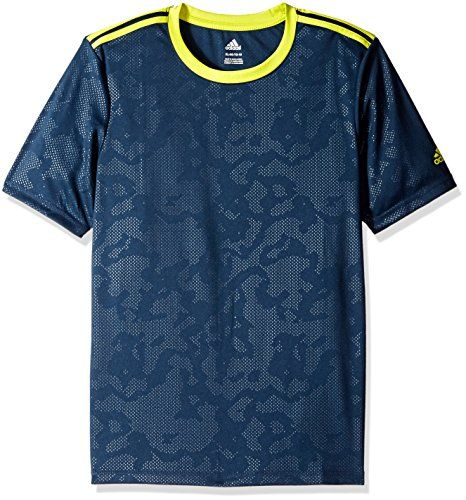 adidas Big Boys Performance Short Sleeve Tee Collegiate NavyShock Slime XLarge18 >>> Want to know more, click on the image.