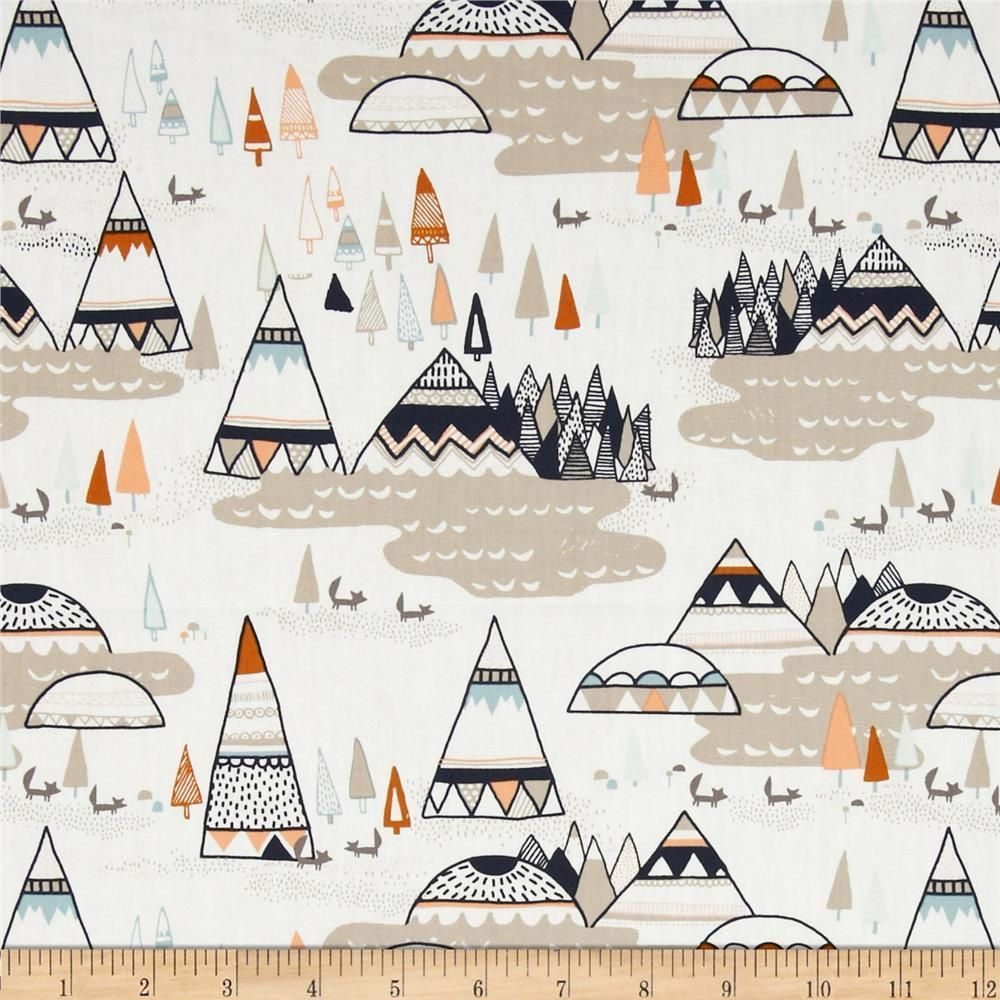 Tee Pee Fabric Indian Summer Woodland OAK Art Gallery Boy