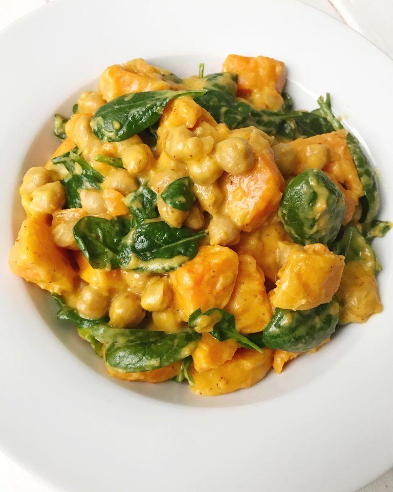 Süßkartoffel-Kichererbsen-Curry #vegetariandish