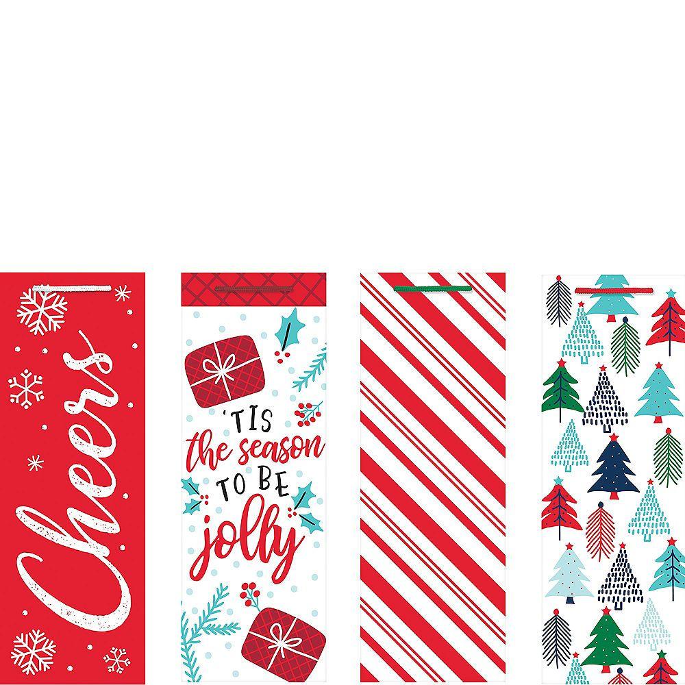 Jolly Season Bottle Bags 4ct Christmas Packaging Design Holiday Packaging Design Christmas Gift Bags