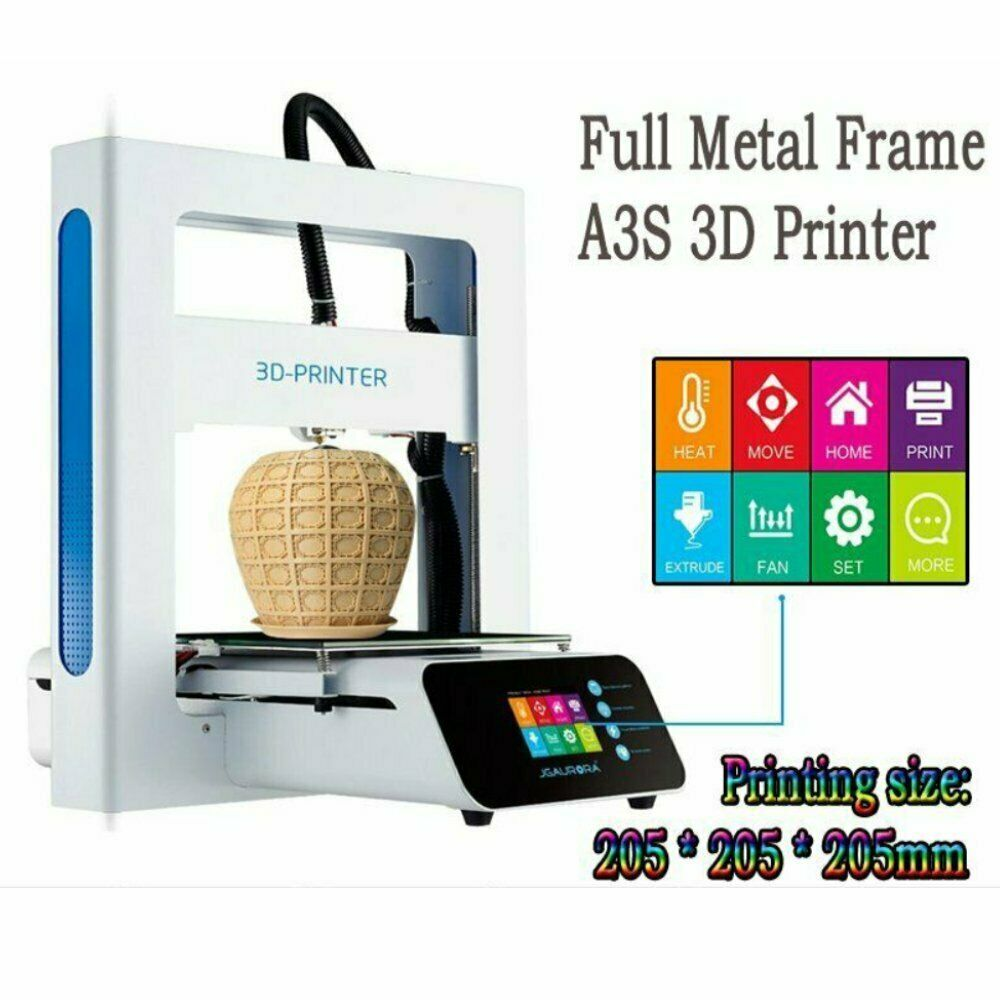 A3S Assembled Touch LCD 3D Printer Support Offline Printing 205x205x205mm MA