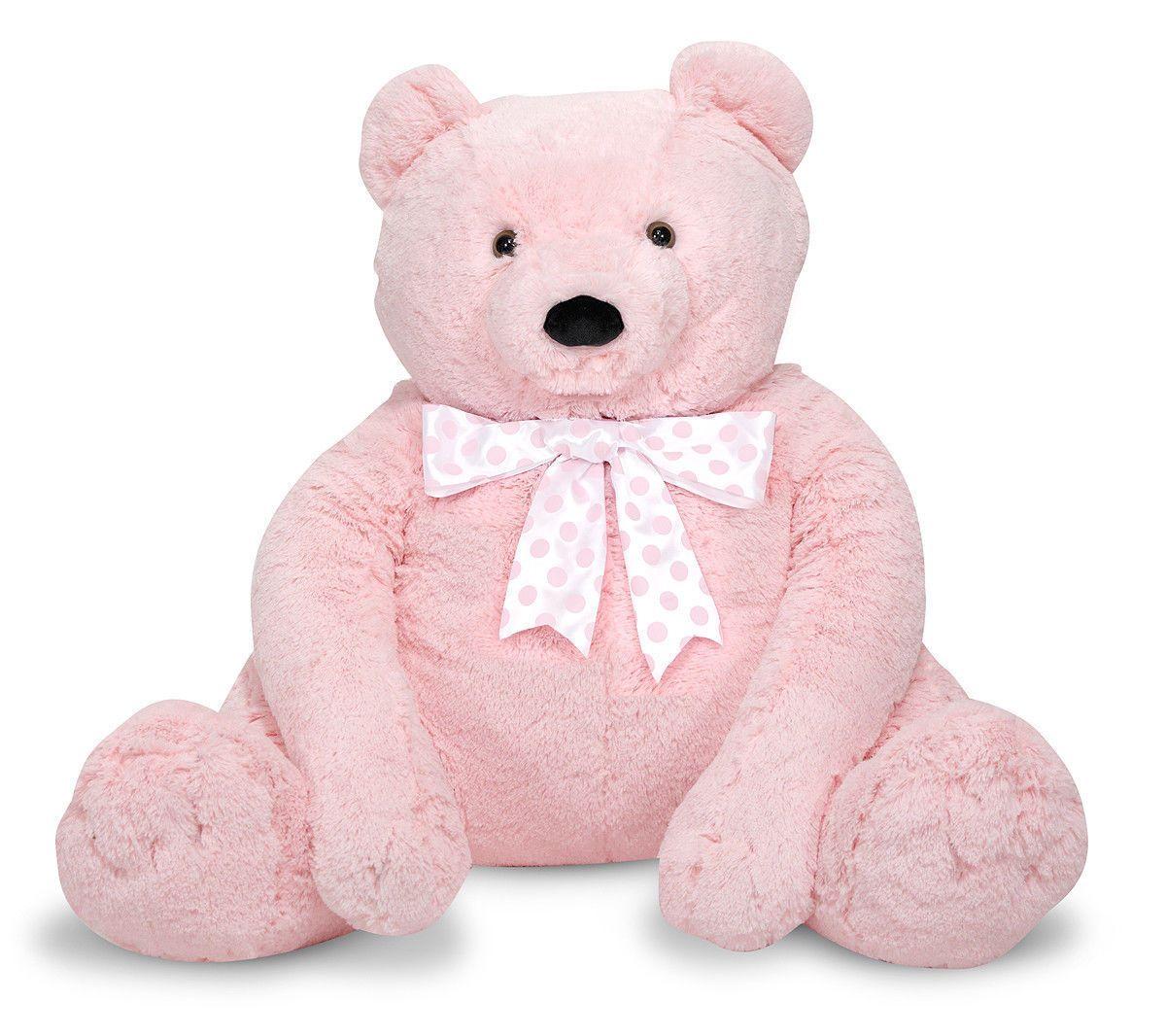 Big Pink Bear White Stuff Plush Teddy Animal Adventure Corduroy Valentine Heart Great For Valen Jumbo Teddy Bear Bear Stuffed Animal Teddy Bear Stuffed Animal [ 1066 x 1200 Pixel ]
