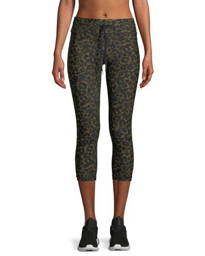 c10dcbb1dafac0 The Upside Leopard-Camo Drawstring Capri Leggings   Products
