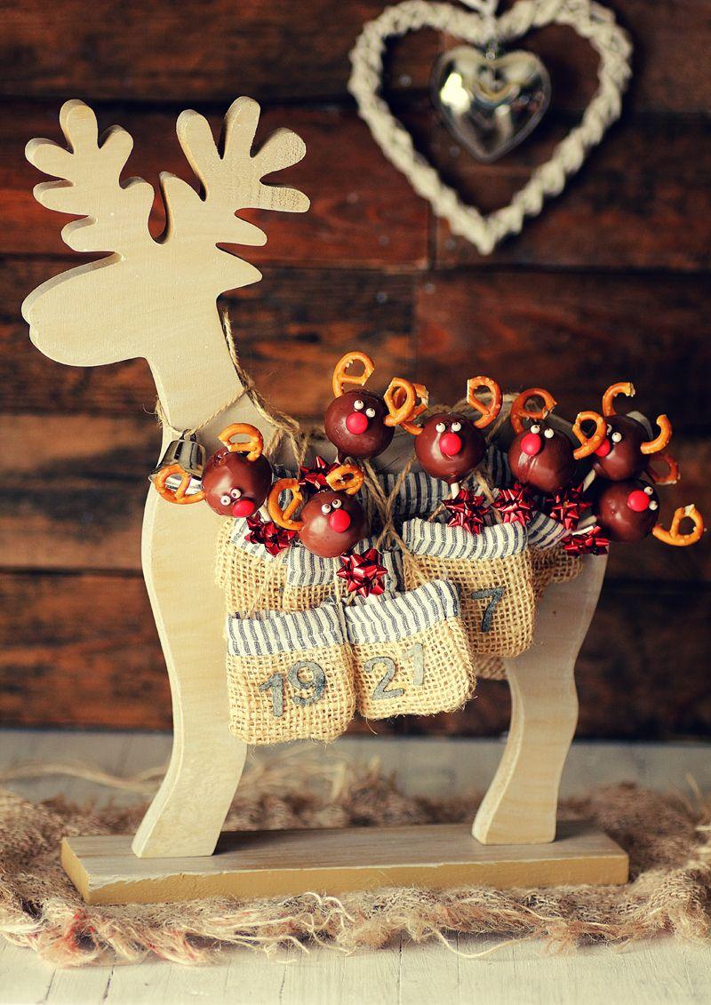 Kanela y lim n gallebolas renos de navidad dulces postres reposter a pinterest - Holzarbeiten weihnachten ...
