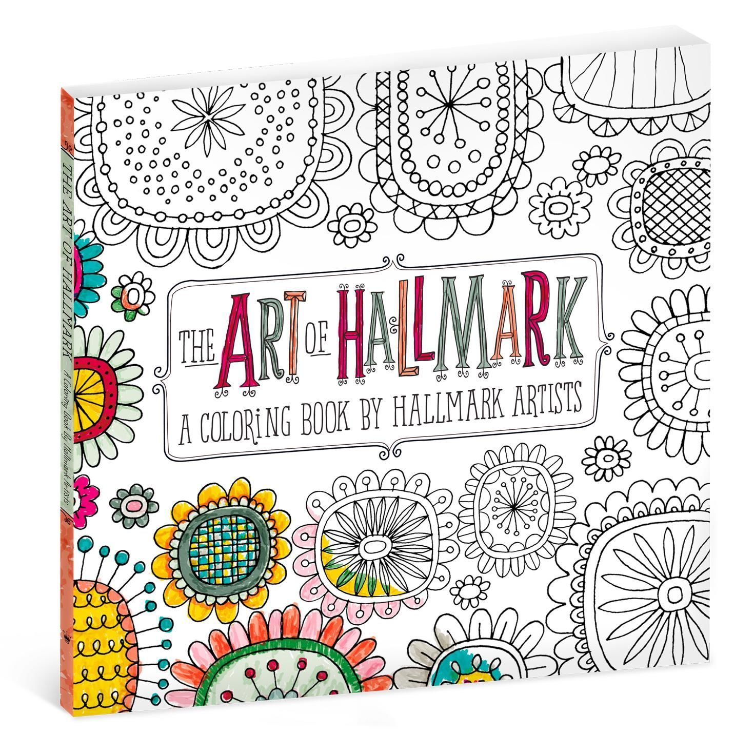 the art of hallmark coloring book for adults gift books hallmark - Art Coloring Books