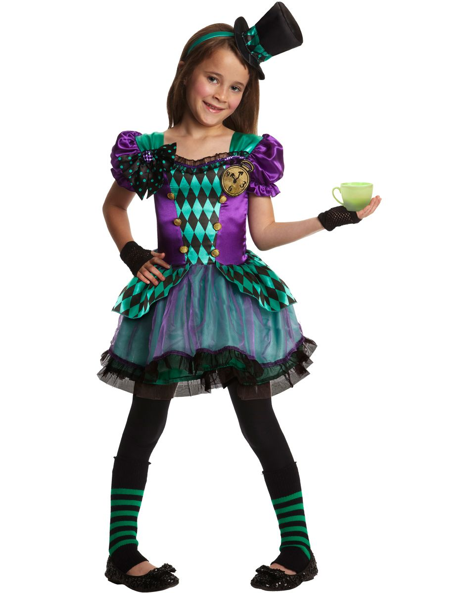 Miss Mad Hatter Girl's Costume exclusively at Spirit Halloween ...