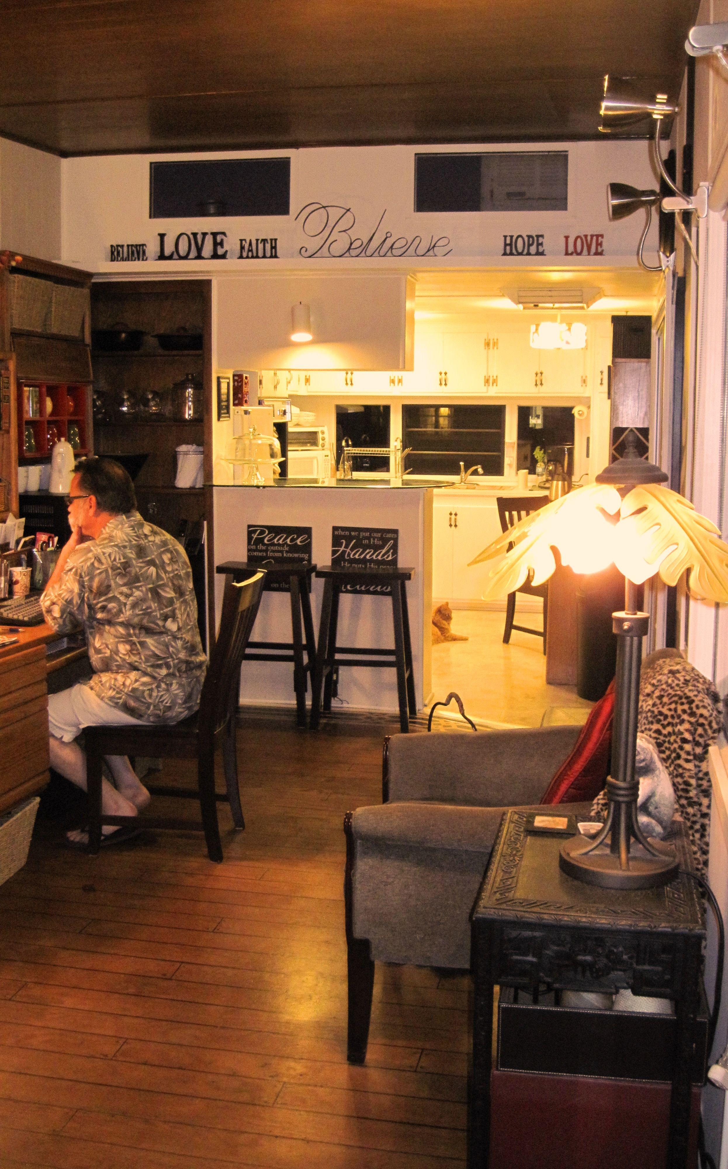 mobile home remodel 1964 single wide living room ...