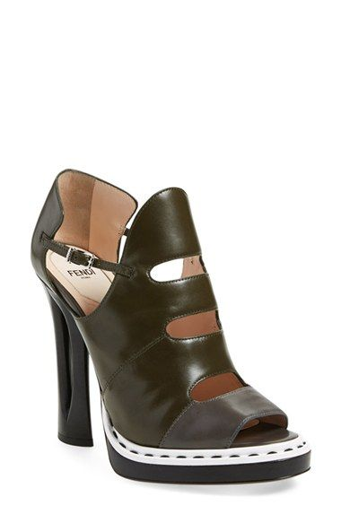 d8f61b76 FENDI 'Flowerland' Peep-Toe Platform Sandal (Women). #fendi #shoes ...