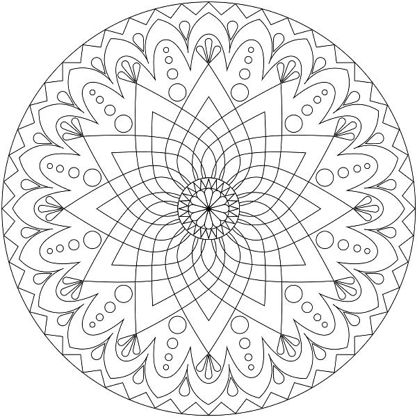 Coloring Picture Mandala Pages Printable And Colors