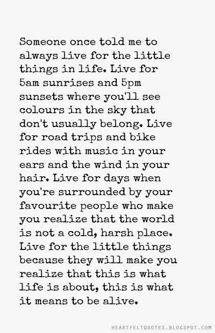 The little things in life..