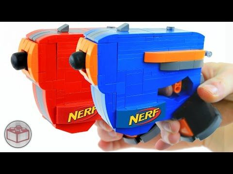 Build Your Very Own Working Nerf Dart Gun With Lego Instructions