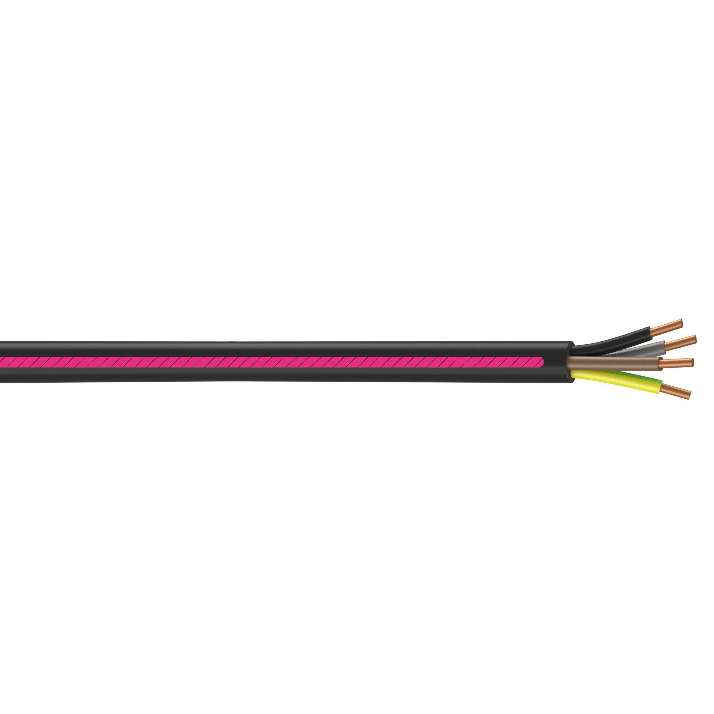 Cable Electrique 4 G 1 5 Mm U1000r2v 5 M Noir En Couronne Nexans Cable Electrique Gaine Pvc Et Coupe Noire