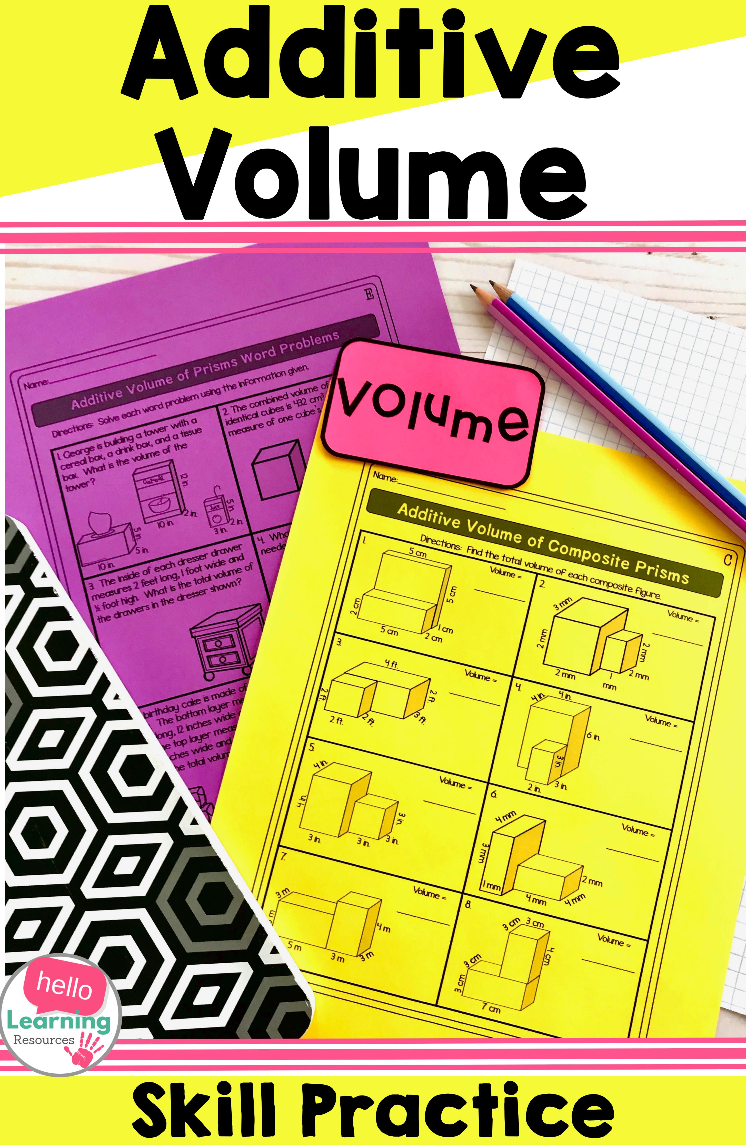 medium resolution of Additive Volume Worksheets   Volume math