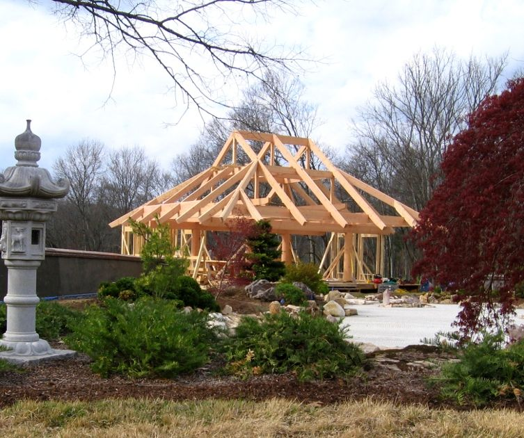 Our West Coast Timberframers Spent Some Time In Tn Raising