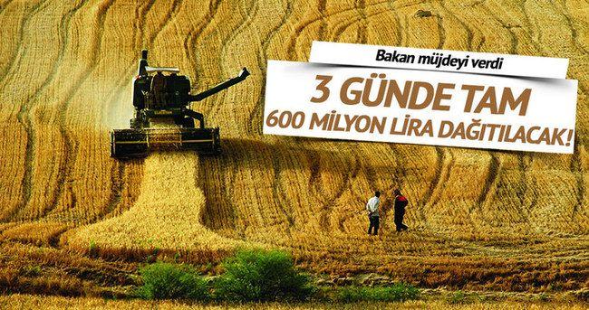 Gıda Tarım ve Hayvancılık Bakanı Çelik, yılın ilk 5 ayında çiftçilere yaklaşık 6 milyar liralık destekleme ödemesi yapılmış olacağını bildirdi. İLK YARIDA 6 MİLYAR LİRA DESTEK ÖDEMESİ  Gıda Tarım ve Hayvancılık Bakanı Faruk Çelik, bu yıl için üreticilere toplam 11 milyar 644 milyon liralık tarımsal destek ödemesi yapmayı planladıklarını belirterek, yılın ilk 5 ayında çiftçilere yaklaşık 6 milyar liralık destekleme ödemesi yapılmış olacağını bildirdi.