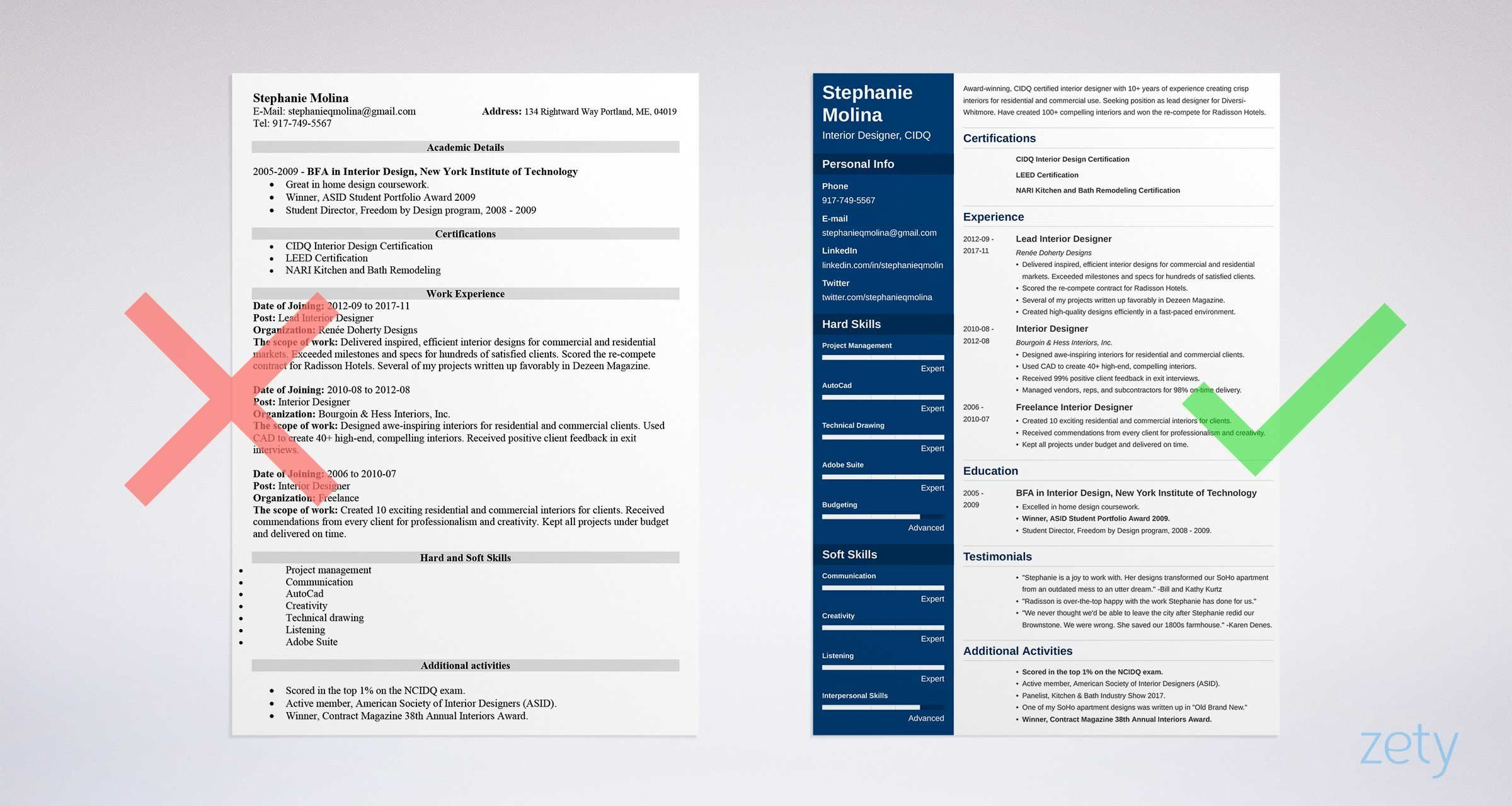 Cv Template Zety Best resume template, Resume template