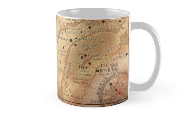 The Dark Tower Mid World Map Mug By Octoberfifteen The Dark Tower Tower Metal Prints