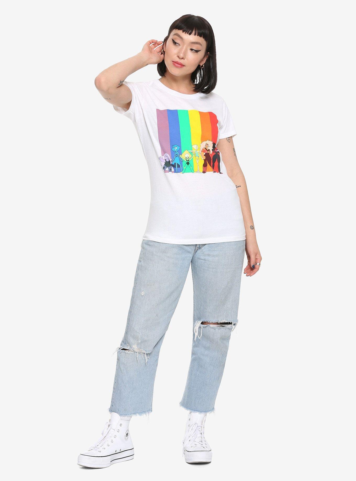 cc07632001cb5 Steven Universe Rainbow Girls T-Shirt | Clothes I want | Steven ...