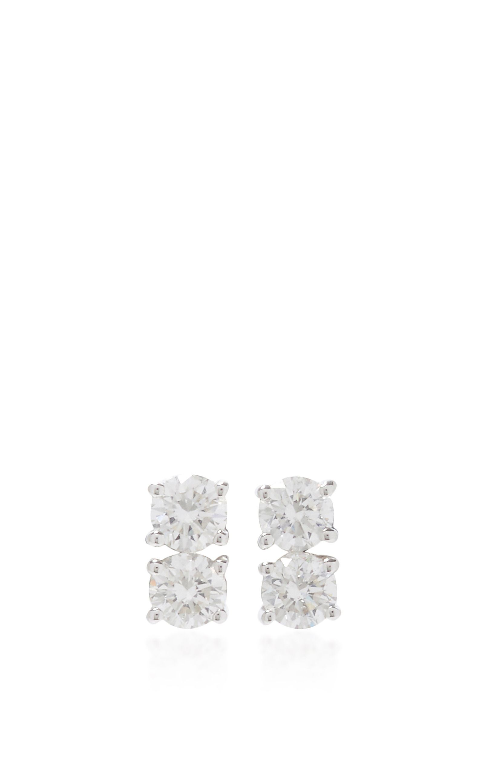 Two Dots Earrings by ANITA KO for Preorder on Moda Operandi
