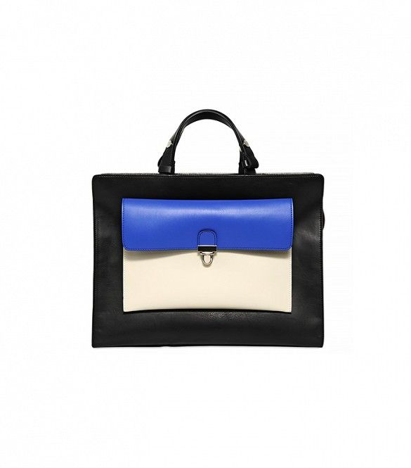 Loving the graphic look of this top-handle bag // Marni Colorblock Faux-Leather Top-Handle 2-in-1 Bag