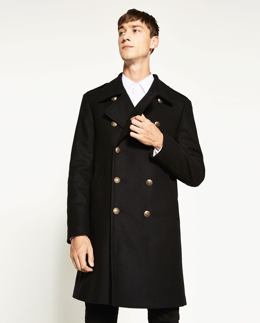 Military Style Coat View All Outerwear Man Zara United Kingdom Military Fashion Military Style Coats Coat [ 1269 x 1024 Pixel ]