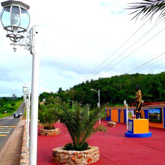Plaza en honor al futbolista venezolano, El Callao, estado Bolívar, Venezuela