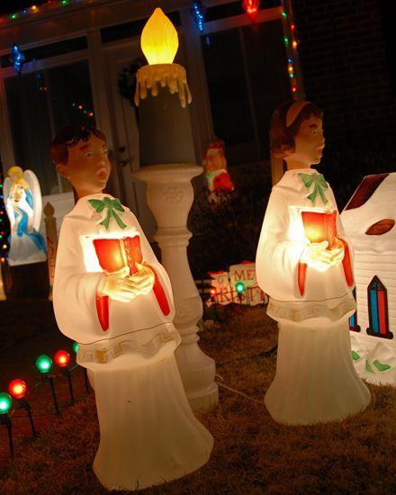 Choir Blow Mold Christmas Decoration Vintage Blowmold Christmas