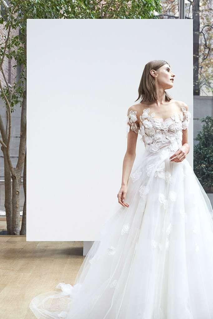 Abiti da sposa Oscar De La Renta 2018 - Vestito da sposa con petali ...