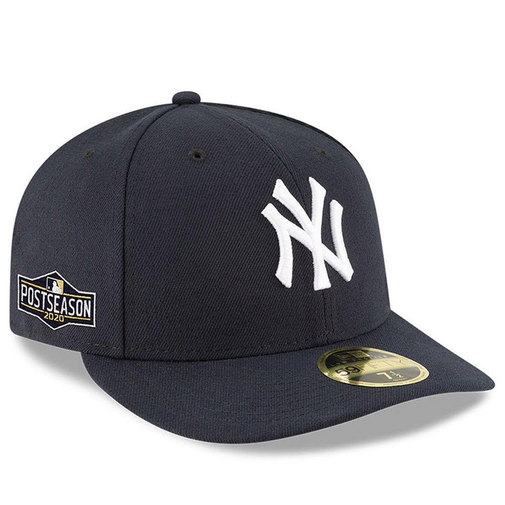 Men S New Era Navy New York Yankees 2020 Postseason Side Patch Low Profile 59fifty Fitted Hat New York Yankees Yankees News Fitted Hats
