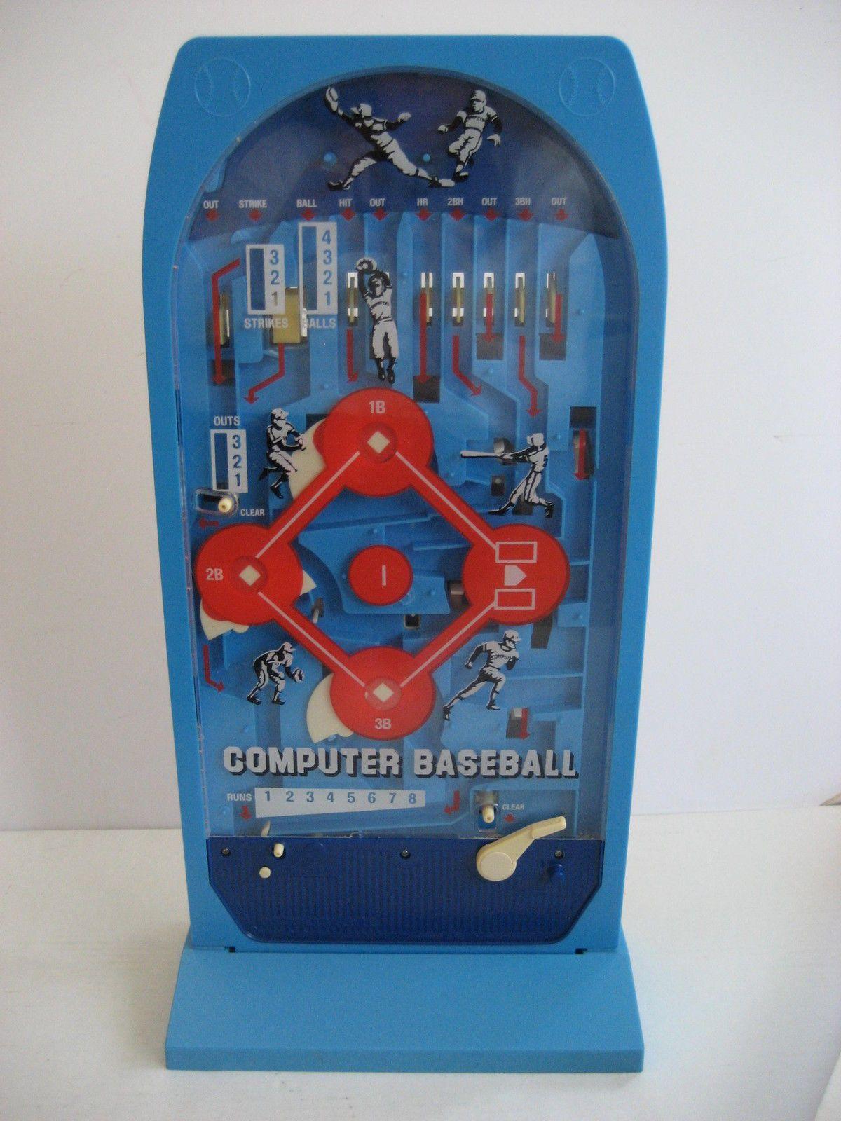 Vintage Computer Baseball Pinball Game Epoch Playthings