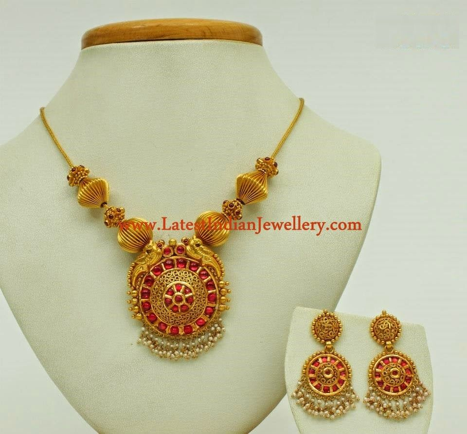 Pai jewellers gold necklace designs latest indian jewellery designs - India Jewelry