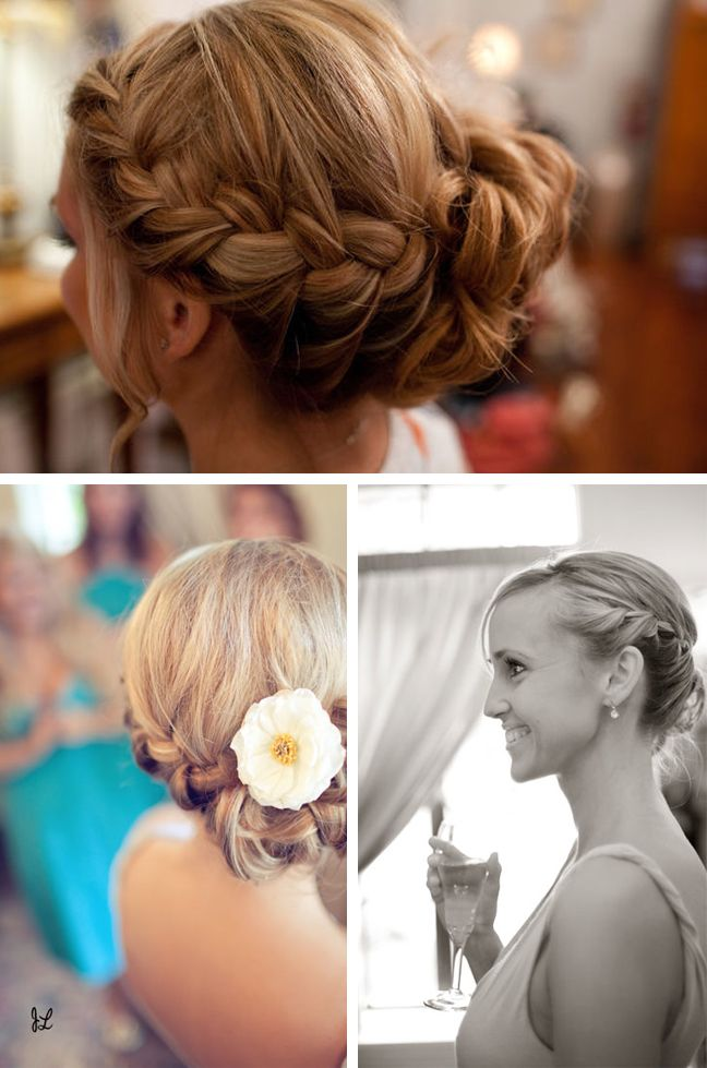 wedding hairstyles with breads | bridal braids romantic wedding hair for bride or bridesmaid