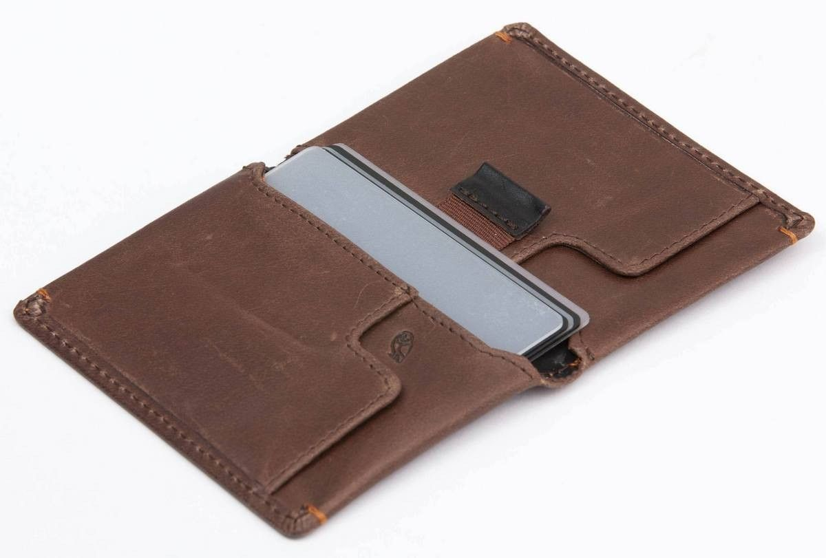 Bwllroy slim sleeve wallet dark brown / mocha