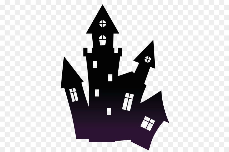 Haunted House Halloween Clip Art Halloween Png Is About Is About Black And White Line Silhoue Halloween Clipart Halloween Decorations For Kids Spooky House