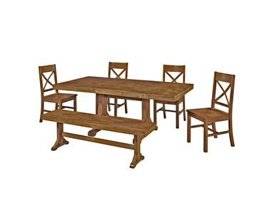 Shop for Ft Myers 6-Piece Solid Wood Dining Set, C60W2AB, and other Dining Room Tables at Walter E. Smithe in 11 Chicagoland locations in Illinois and Merrillville, Indiana. This charming dining set is the perfect addition to any dining room. Set is designed to seat six but with the self-contained butterfly leaf, will easily accommodate larger gatherings or a growing family.