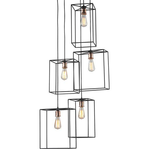 Dot & Bo SoHo Nights Pendant Light (€535) ❤ liked on Polyvore featuring home, lighting, ceiling lights, teardrop lamp, mounted lights, cluster lights, teardrop lights and ceiling mount lights