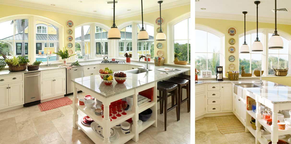 Beautiful Bright, Sunny Kitchen By Taylor Interior Design In Providence, RI.