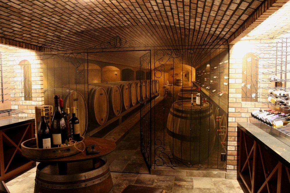 Trompe L Oeil Wine Cellar Wine Cellar Mural Residential