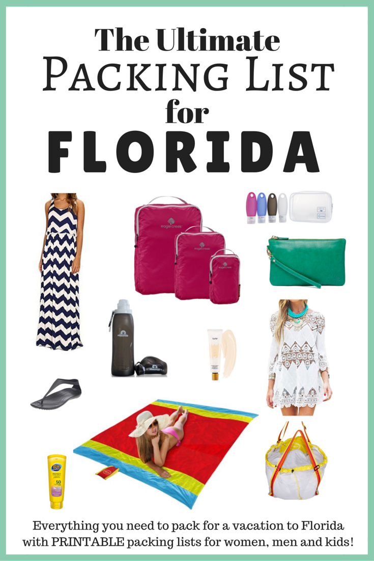 The Ultimate Packing List for Florida