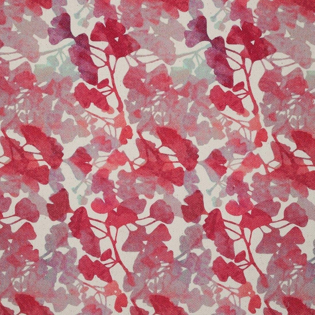 Tissu Coton Epais Aquarelle Rose Hubson Aquarelle Rose Motifs
