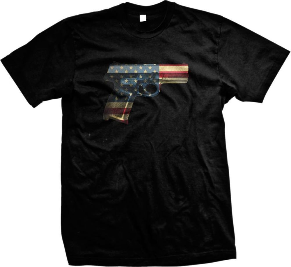 c9dbfb247 American Guns Patriot Pride Flag Arms USA Second Amendment Right Mens T- shirt #Unbranded #GraphicTee