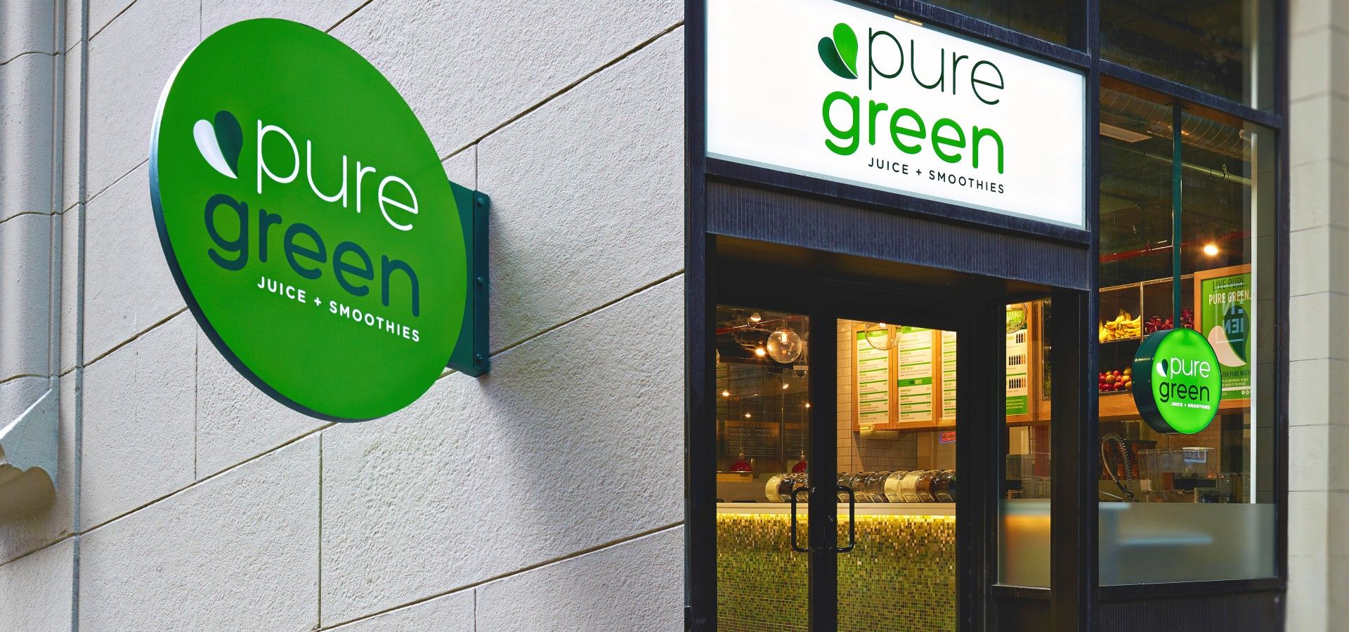 Exterior Signage For Pure Green Juice Smoothies New
