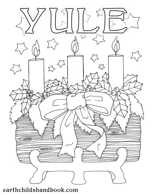 Yule Kid S Colouring Page Coloring Pages Book Of Shadows Christmas Coloring Pages