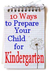 10 ways to prepare for kindergarten