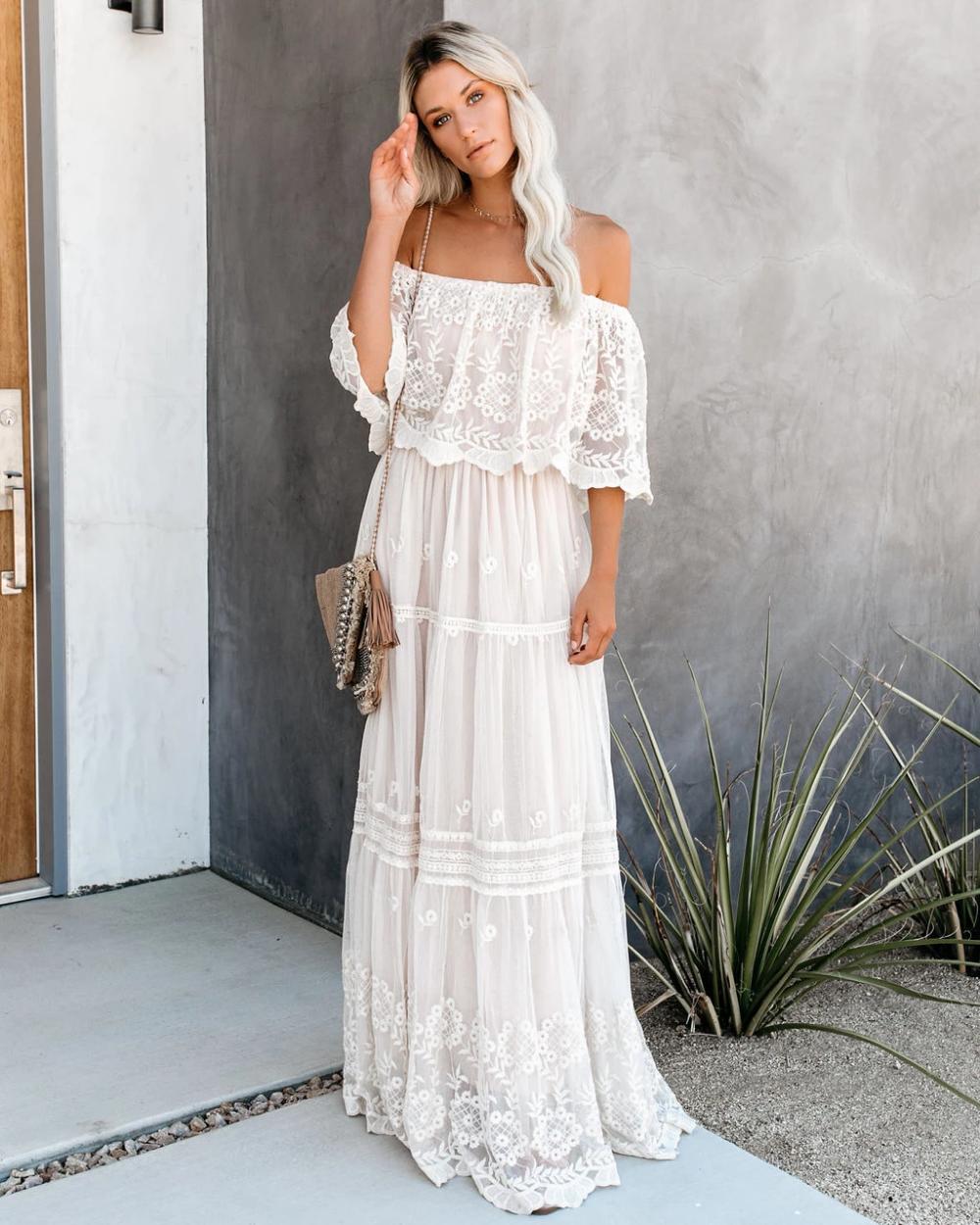 PREORDER - Flower Child Off The Shoulder Lace Maxi Dress -   19 dress Maxi lace ideas