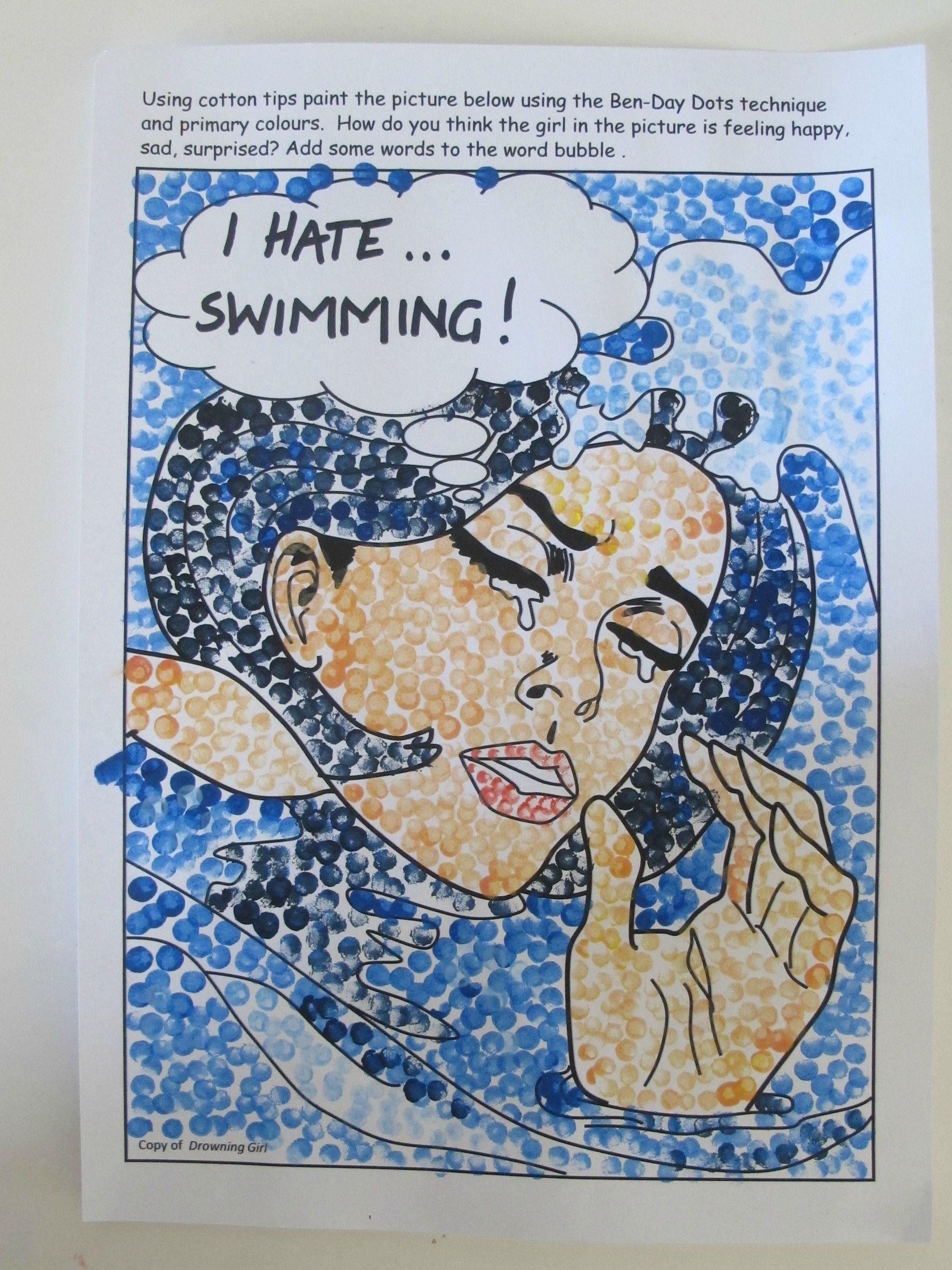 Roy Lichtenstein Inspired Art Work For Students