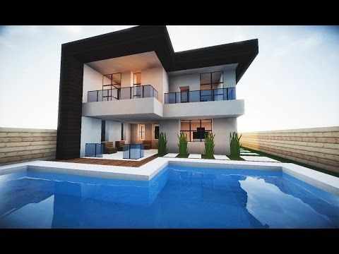 Minecraft Tutorial Pequena Casa Moderna 202