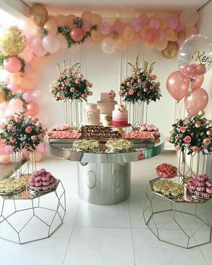 Balloon decorations birthday wedding table celebration st also pin by sahil on ideas for wishing party rh in pinterest