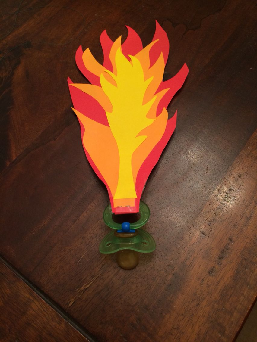 Fire breathing Dragon pacifier | costume | Pinterest