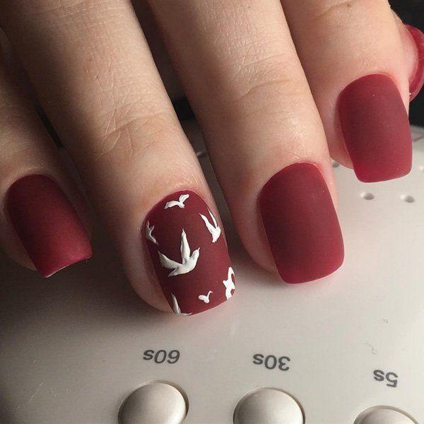 60 Dark Nails for Winter | Short nails, Winter nail colors and Nail ...